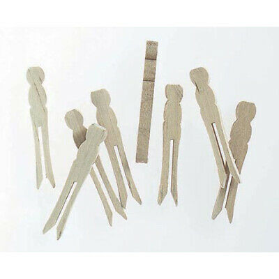 30 Mini Wooden No Roll Dolly Pegs | Peg Doll Crafts