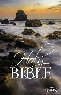 The NKJV Holy Bible Larger Print by Thomas Nelson Paperback NEW Book