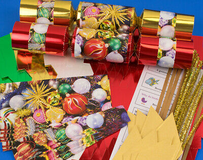 8 Traditional Christmas Mix Make & Fill Your Own Crackers Kit