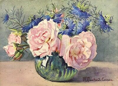 MARIE CHAUTARD-CARREAU - EARLY 20thC FRENCH IMPRESSIONIST - FLOWERS IN BOWL