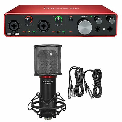 Focusrite SCARLETT 8I6 3rd Gen 192KHz USB Audio Recording Interface+Studio Mic