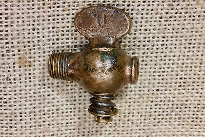 "old bronze valve blow off petcock Gas Engine 1/8"" NPT marked U Hit Miss vintage"