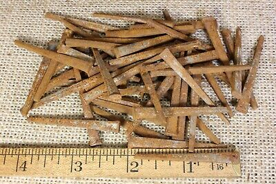 """QTY 15 ~ 3/"""" SQUARE NAILS vintage 1890s antique rust patina ARCHITECTURAL SALVAGE"""