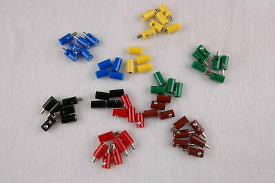 (Pieces 19,9 CT) 60 Plug/Sleeves 2,6mm with Transverse Hole - Sorted New