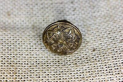"old Drawer pull 1"" cabinet knob interior shutter fancy furniture brass vintage"