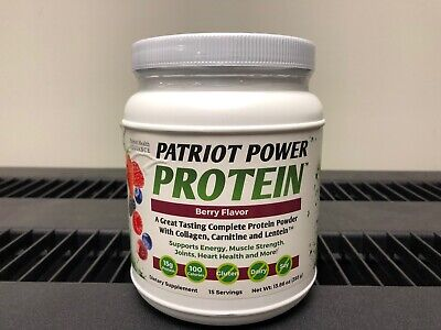 Patriot Health Alliance Power Protein 15 Servings Berry Flavor - Free Ship