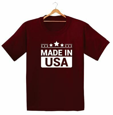 Made In Usa Printed Kids Boys Girls T Shirts Summer Holiday Hipster Dope Tee