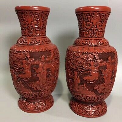 Chinese ancient lacquer vase collection possession of goods 83 0061