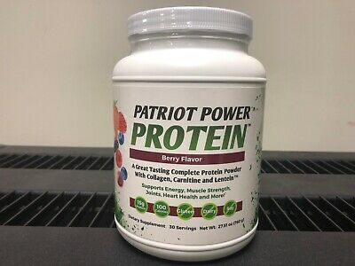 Patriot Health Alliance Power Protein 30 Servings - New - Free PRIORITY SHIP!