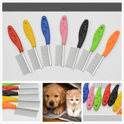 Stainless Steel Brush Comb Hair Shedding Flea For Cat Dog Pets Trimmer Grooming