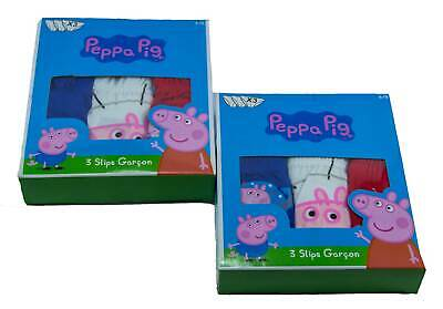 Peppa Wutz Underwear brief slip character George Galaxy set of 6 100% cotton New
