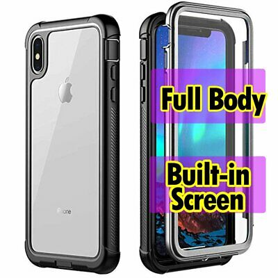 360 Full Body Shockproof Case Cover for Apple  iPhone XS Max XR X 7 8 Plus