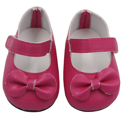 Doll Shoes Strap PU Leather Shoes For 18'' Dolls Clothing Accessories