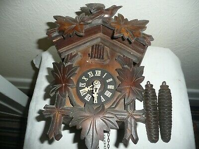 Small, Vintage Cuckoo Clock, Sold For Restoration, Weights but No Pendulum.