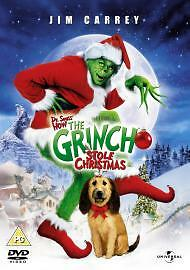 Dr Seuss How The Grinch Stole Christmas Jim Carrey Anthony Hopkins Uk Dvd Vgc