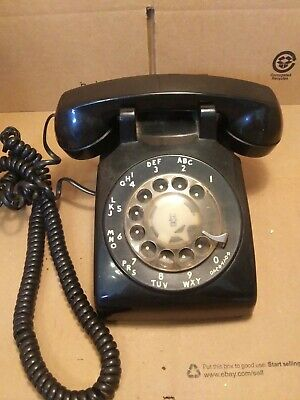 Black Western Electric 500 DM Rotary Telephone Antique. 11-55 1955 c4A