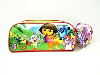 DORA THE EXPLORER Collectible Pencil Pouch with Colorful 24 Piece Jigsaw  Puzzle