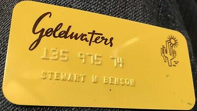 vintage Goldwaters Arizona credit charge card rare