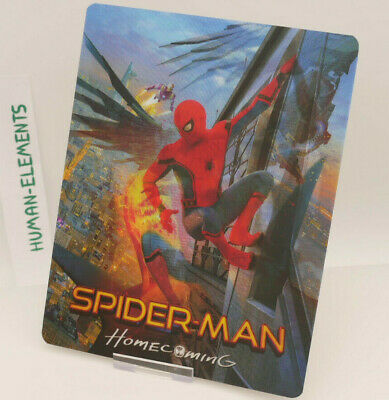 SPIDER-MAN HOME COMING - Lenticular 3D Flip Magnet Cover FOR bluray steelbook