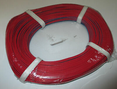 [1m = Twin Braid Wire Red/Blue 50m New