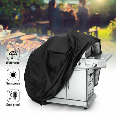 Xs-2Xl Black Bbq Cover Waterproof Rain Snow Universal Barbeque Grill Protector