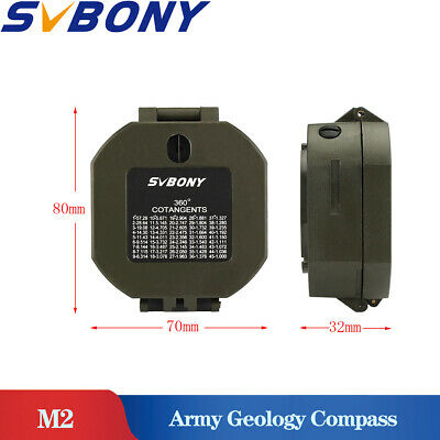 SVBONY M2 Compass Military lightweight Army Geology Compass for mining engineers