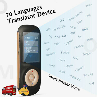 70 Languages Pocket Smart Translator Smart Instant Voice Translator Hotspot AU