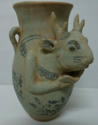 ANTIQUE  17thc  THAI  AYUTTHAYAN  KINGDOM YEAR OF DEER   WATER   VASE