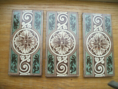 """Set Of 3 Victorian Border Tiles 6"""" By 3"""""""