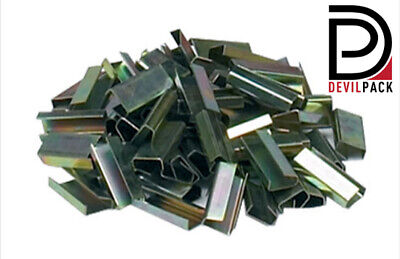 2000 Metal Seals for Hand Pallet Strapping 12mm x 25mm SEMI Open