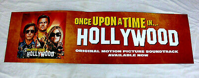 Once Upon A Time In Hollywood Soundtrack Promo Acrylic promo sign Banner 2'x7'
