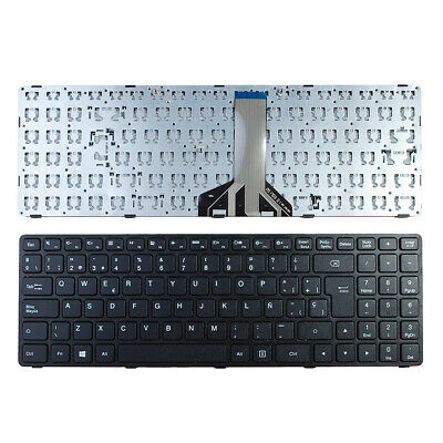 Without Foil,WIN8 Laptop Replacement Keyboard for Lenovo Ideapad 100-15IBY Black Frame Black