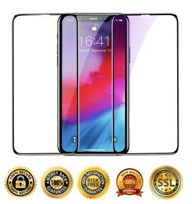 2x 3D Full Coverage Tempered Glass Screen Protector for iPhone 6S 7 8 XR XS MAX