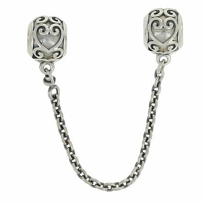 NEW Authentic Pandora Enchanted Heart Safety Chain - Sterling Silver 797036-05