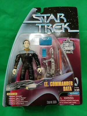 Playmates1999 Star Trek Starfleet Command Lt Commander Data Target New 65804