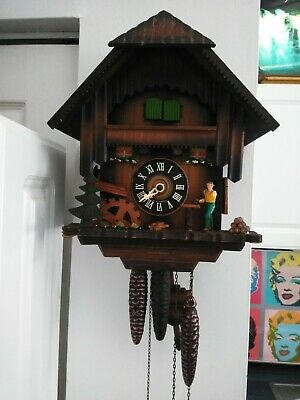 Vintage W. German Musical Chalet Motion Cuckoo Clock must see No Reserve!