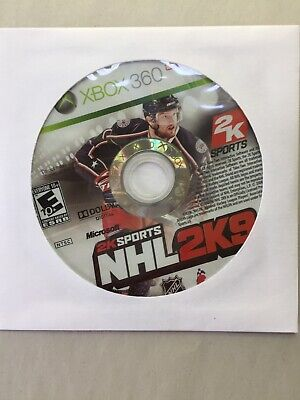 *DISK ONLY* ~TESTED Fair~ Microsoft Xbox 360 NHL 2K9 Fast Shipping Canada
