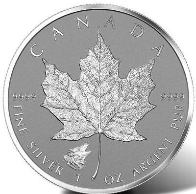 Canada - 2016 - 1 oz .9999 Silver Maple Leaf Wolf Privy Reverse Proof $5 Coin