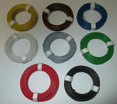[0,125 €/ M] Hook-Up Wire 0,5mm Copper 8 Rings a 10 Meter New Choice of Color