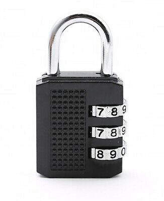 Combination Padlock 3-Digit Combination Lock, for Suitcase, Gym lockers ,Toolbox