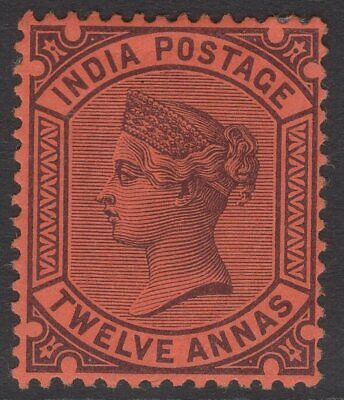 INDIA SG100 1888 12a PURPLE/RED MTD MINT