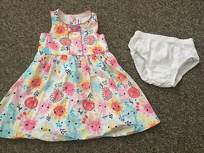 Baby Girl Summer Sunshine Dress And Knicker Set 2 Years Gorgeous Worn Once