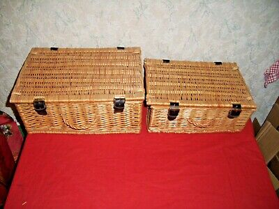 Two Small Wicker Hampers