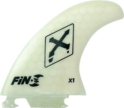 FIN-S X-1 HONEYCOMB WHITE CLEAR 3 fins