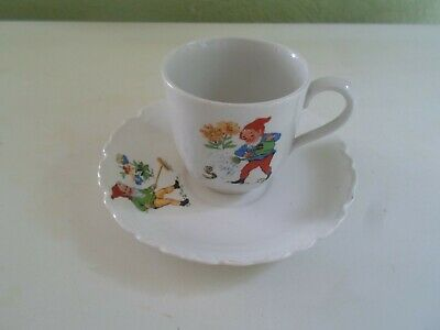 """Vintage Retro """"BIG EARS"""" (From Noddy) Small Cup & Saucer by Johnson Bros England"""