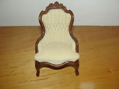 Dollhouse Miniature Victorian Chair  by Leonetta  Signed