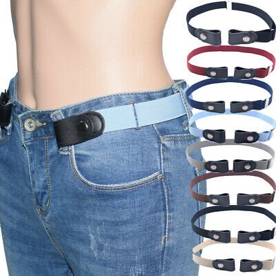 Kid Buckle-free Adult/Children Invisible Elastic Belt for Jeans No Bulge Hassle