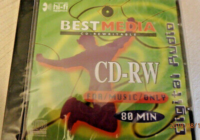 AUDIO CD-RW Rohling BESTMEDIA 80 FOR MUSIC ONLY - NEU /OVP!