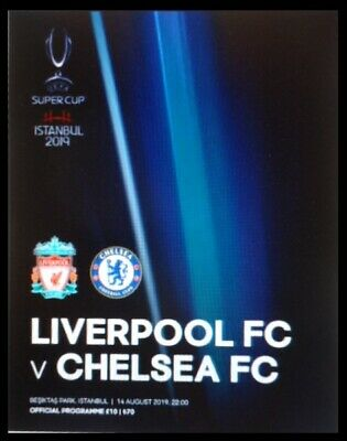 off. Programme UEFA Super Cup 14/8/2019 Liverpool FC vs Chelsea FC # Istanbul