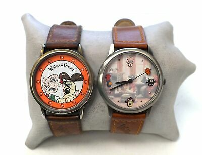Pair Of Collectable Vintage WALLACE & GROMIT WRIST WATCHES 1989 Grand Day - M12